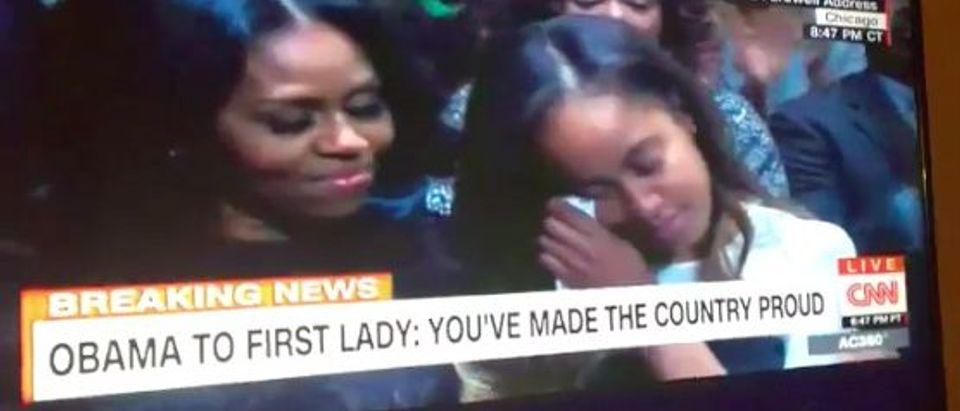 malia obama crying