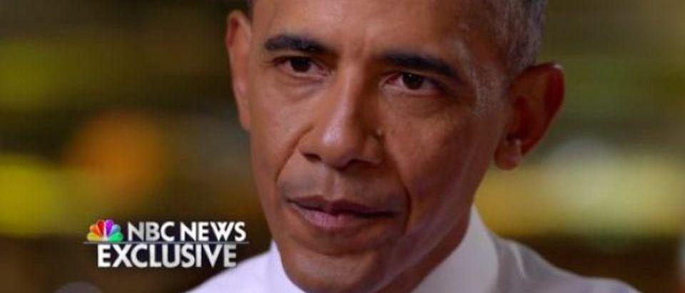 Barack Obama (Photo: NBC screen grab)
