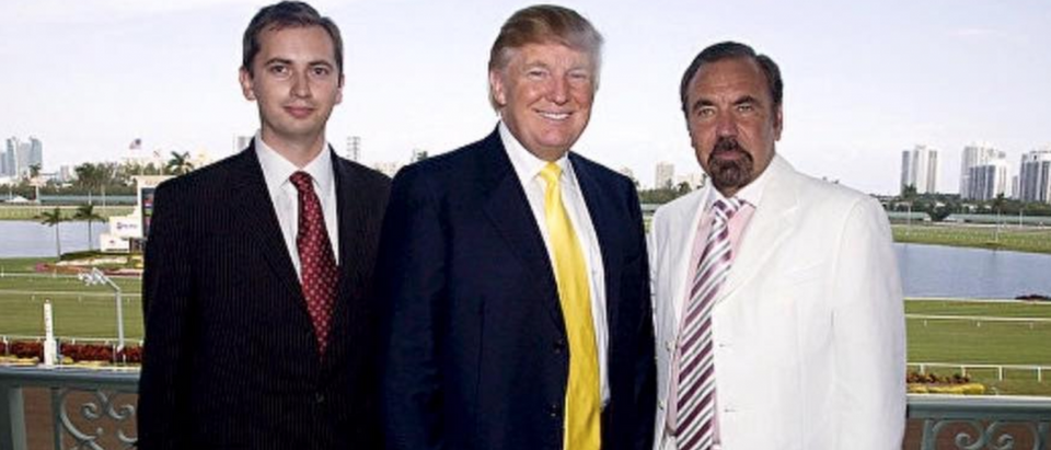 Sergei Millian (left); Donald Trump (center); Jorge Perez (right) (via Facebook)