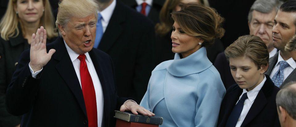 Trump oath Reuters/Lucy Nicholson