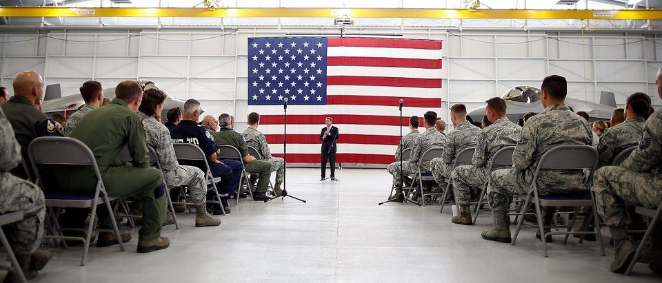 Defense Secretary Ashton Carter Visits Nellis Air Force Base In Nevada