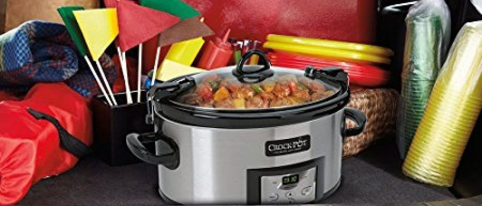 Keep it in the kitchen or take it on the road (Photo via Amazon)