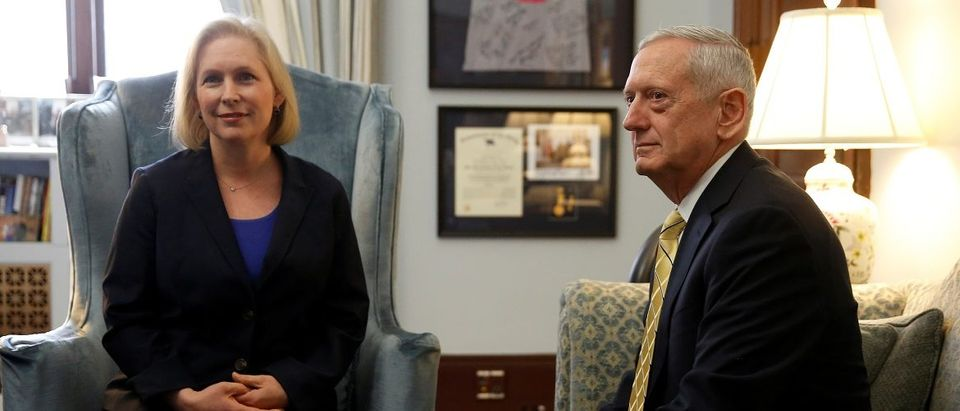 Gillibrand meets with Mattis in her office on Capitol Hill in Washington