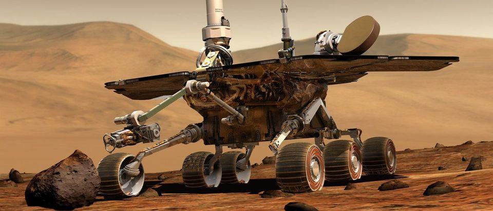Handout of an artist's drawing of NASA's Mars Exploration Rover Spirit