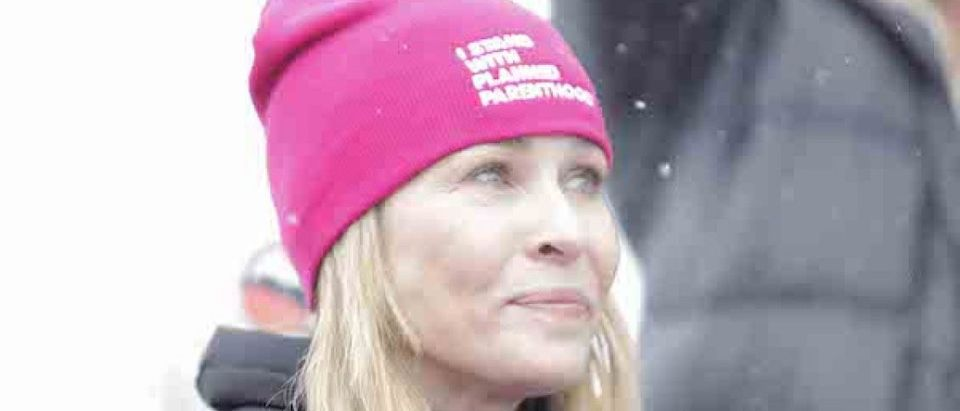 Chelsea Handler and other Celebrities attend the Women's March on Main Street Park City on January 21, 2017 in Park City, Utah. (Photo by: Anna Pocaro/London Entertainment/SplashNews)