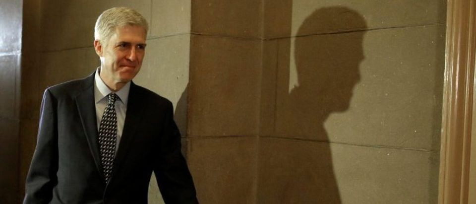 Supreme Court nominee Judge Neil Gorsuch meets with Senator Ted Cruz (R-TX)