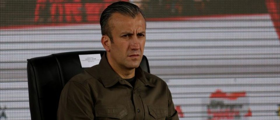 Venezuela's Vice President Tareck El Aissami attends the swearing-in ceremony of the new board of directors of Venezuelan state oil company PDVSA in Caracas