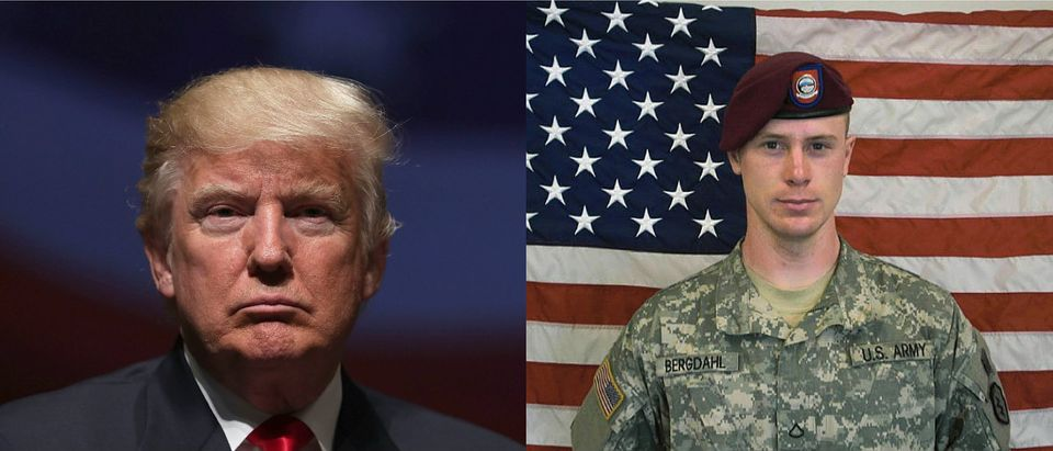 Bowe Bergdahl and Donald Trump Getty Images/Alex Wong, Getty Images/Army handout