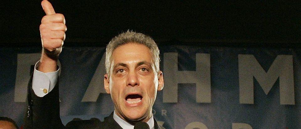 Chicago Mayor Rahm Emanuel: REUTERS/Frank Polich