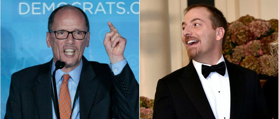 Democratic National Chair, Tom Perez and Chuck Todd of NBC's Meet the Press