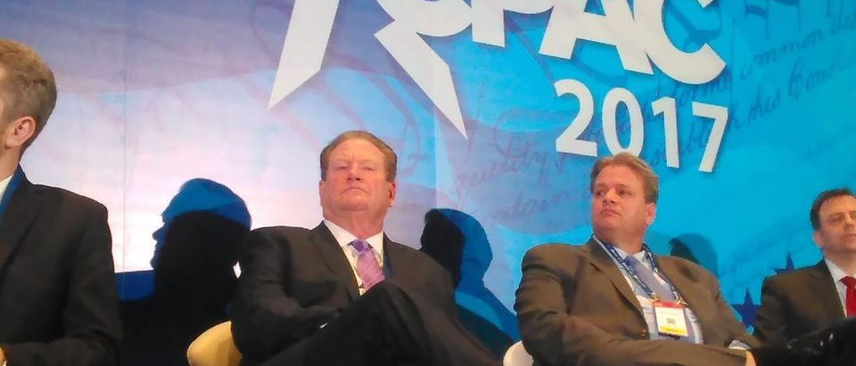 Ed Schultz and panelists at CPAC 2017: Ted Goodman/TheDCNF