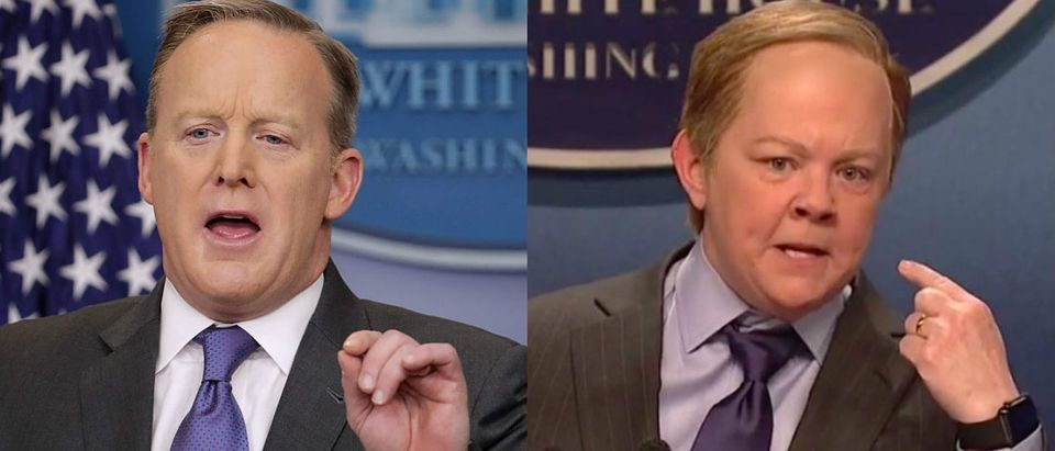 Sean Spicer and Melissa McCarthy