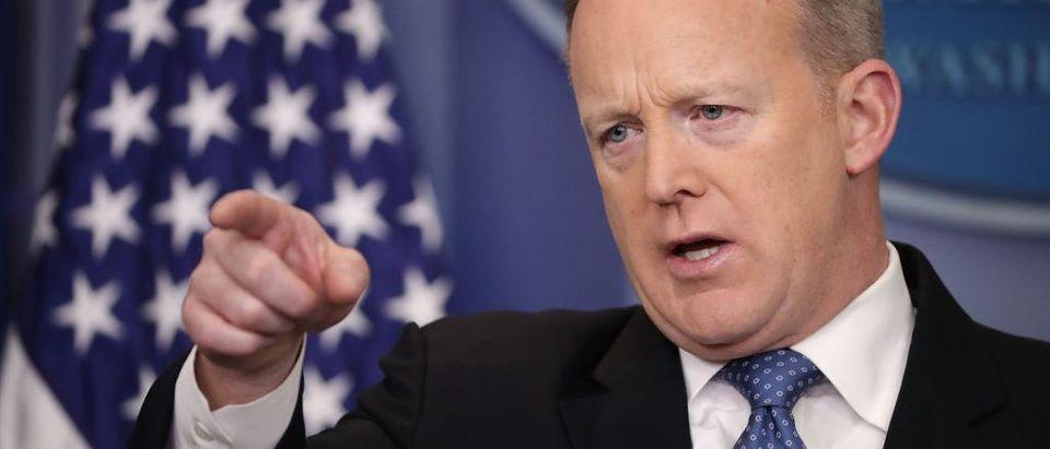 White House Press Secretary Sean Spicer Holds Daily White House Press Briefing