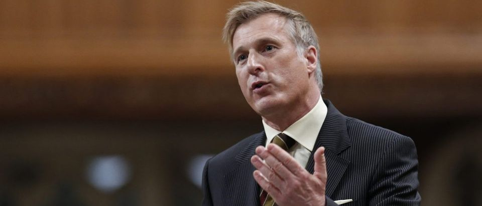 Canada's then-Minister of State for Small Business and Tourism Bernier speaks in the House of Commons on Parliament Hill in Ottawa