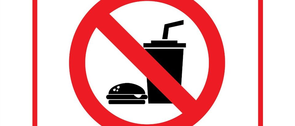 No Food sign: PiggyBank/shutterstock