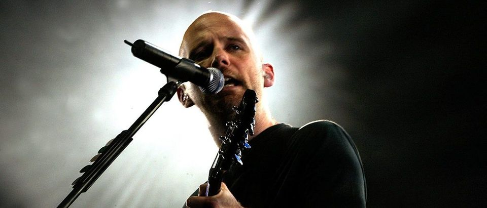 US musician Moby performs during a concert at Palace of the Sports in Mexico City.
