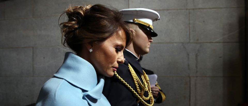 Melania Trump arrives on the West Front of the U.S. Capitol in Washington, D.C., U.S., January 20, 2017. REUTERS/Win McNamee/Pool