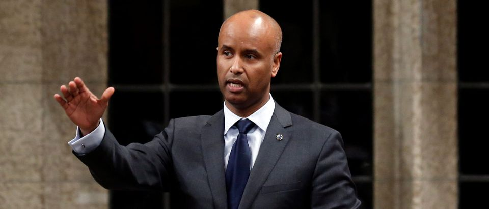 Canada's Immigration Minister Hussen speaks in the House of Commons in Ottawa