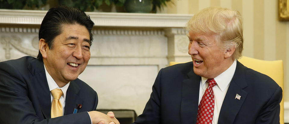 Japanese Prime Minister Shinzo Abe (Credit: Jim Bourg/Reuters)