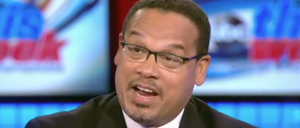 "Minnesota Rep. Keith Ellison on ABC's ""This Week,"" July 2015. (Youtube screen grab)"
