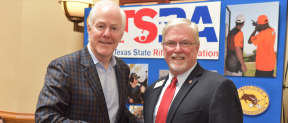 TX. Sen. John Cornyn with TSRA Executive Director Doug DuBois (Photo: Office of Sen. John Cornyn)