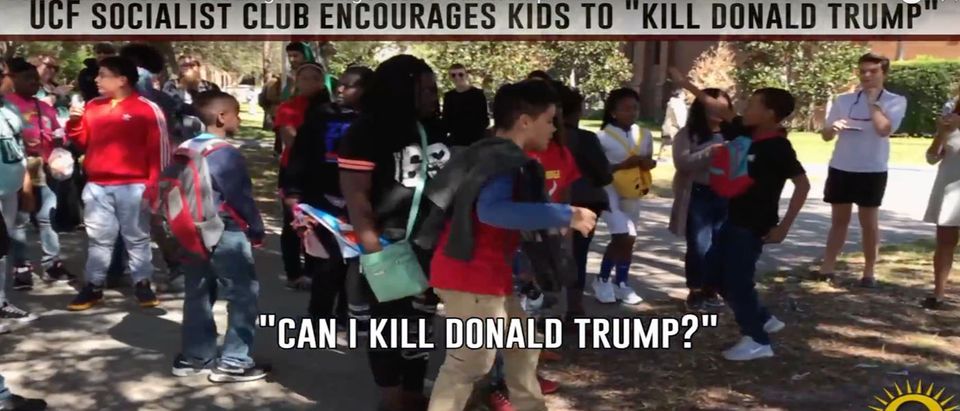 UCF socialists hold anti-Trump event (Youtube screen shot / Jacob Engels)