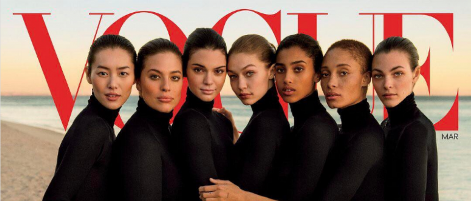 Here is a Vogue Magazine cover. (Credit: Vogue cover screenshot)
