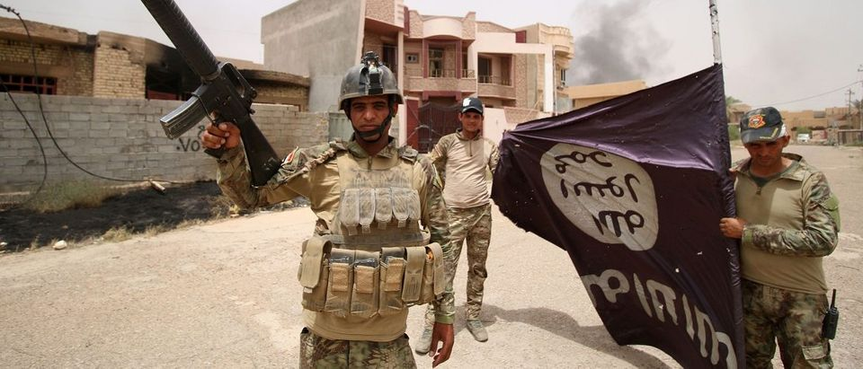 Despite facing less resistance than expected from IS in Fallujah, an emblematic jihadist stronghold, sniper fire, car bombs and booby traps remained a risk for Iraq's forces as they try to clear central Fallujah of pockets of IS fighters. Haidar Mohammed/AFP/Getty Images.