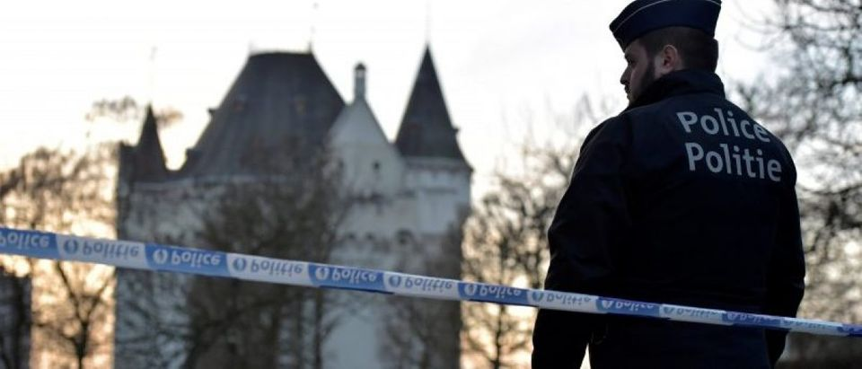 Belgian police sealed off an area of central Brussels