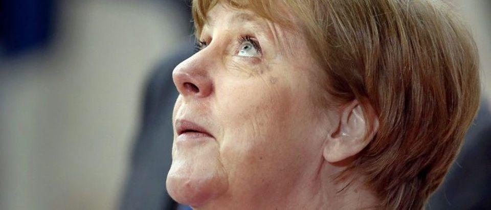 German Chancellor Angela Merkel arrives at the EU summit in Brussels