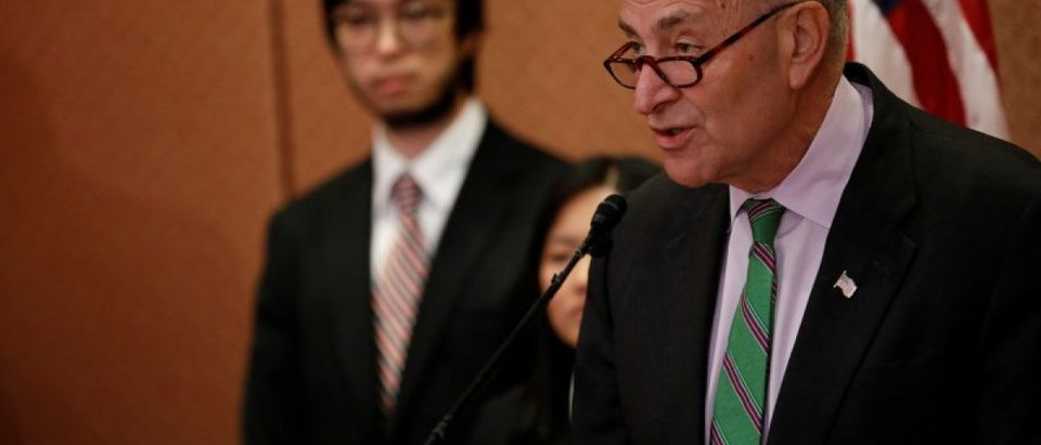 Senate Minority Leader Schumer speaks about Supreme Court Nominee Neil Gorsuch on Capitol Hill in Washington
