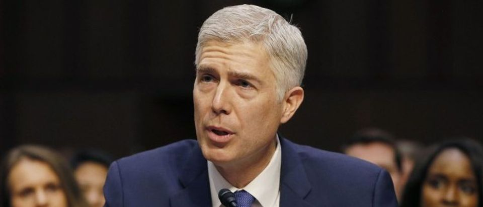 Supreme Court nominee judge Gorsuch testifies at his Senate Judiciary Committee confirmation hearing in Washington