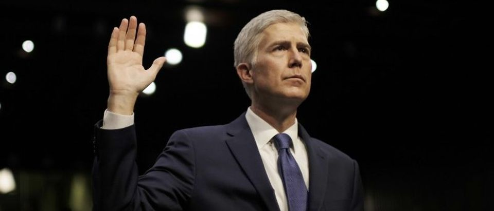 Supreme Court nominee judge Gorsuch sworn in at his Senate Judiciary Committee confirmation hearing in Washington
