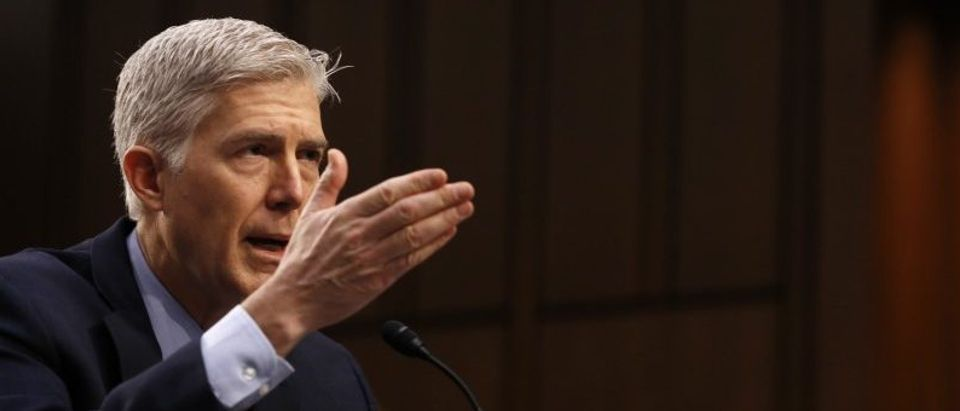 Supreme Court nominee judge Gorsuch testifies before Senate Judiciary Committee confirmation hearing on Capitol Hill in Washington