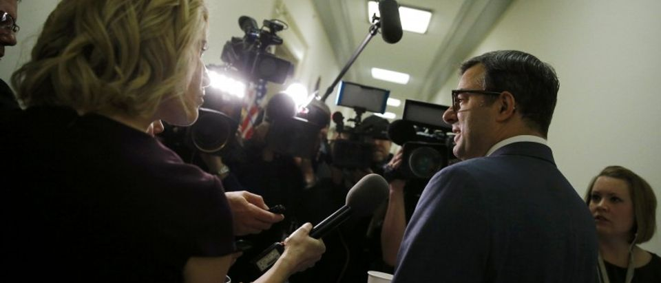 House Freedom Caucus member Amash talks to reporters on Capitol Hill after White House meeting on healthcare in Washington