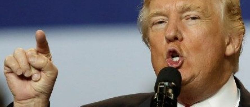 U.S. President Donald Trump holds a rally at the Kentucky Exposition Center in Louisville, Kentucky