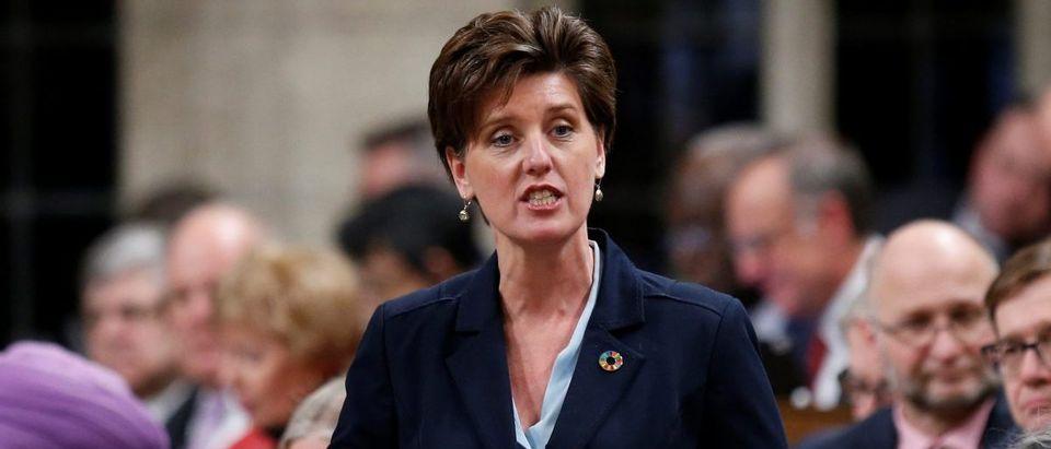 Canada's International Development Minister Bibeau speaks in the House of Commons in Ottawa