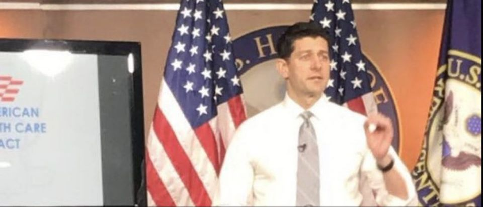 House Speaker Paul Ryan discusses health-care reform at his weekly press conference (Photo: Juliegrace Brufke/The Daily Caller News Foundation)