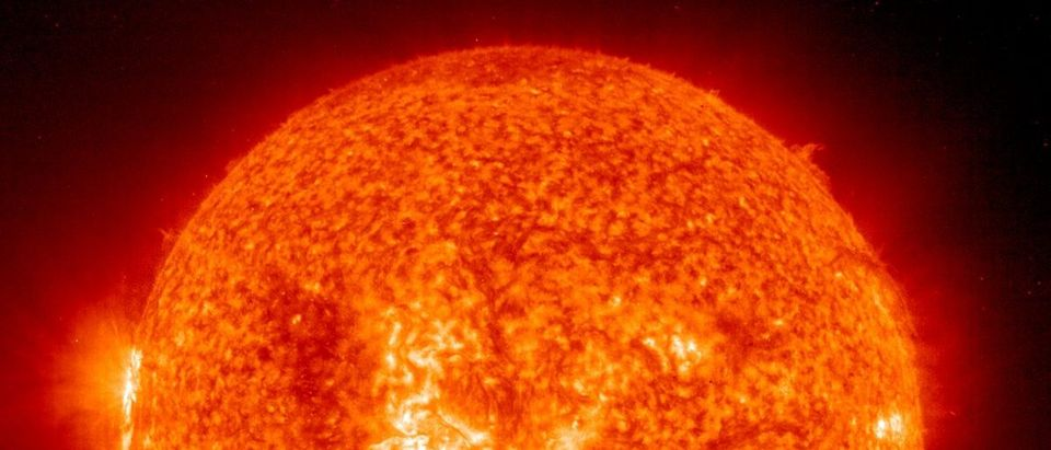 Post-Flare Loops Erupt From Suns Surface