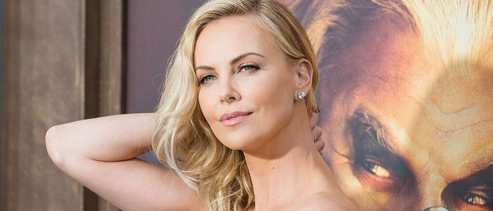 Actress Charlize Theron attends the premiere of Warner Bros. Pictures 'Mad Max: Fury Road' at TCL Chinese Theatre, in Los Angeles, May 7th, 2015. (Photo credit: VALERIE MACON/AFP/Getty Images)