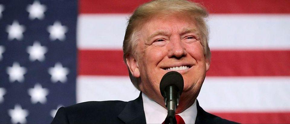 Donald Trump Campaigns In Golden, Colorado