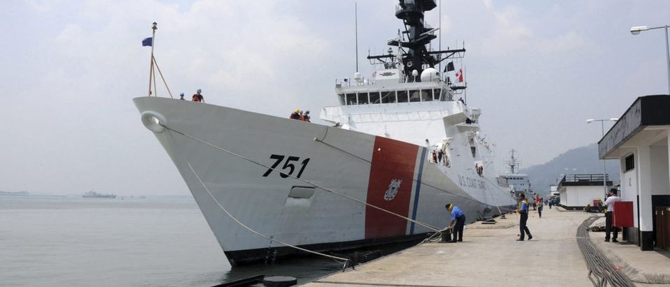 File photo of the The U.S. Coast Guard Legend-class national security cutter USCGC Waesche mooring at Lumut Naval Base
