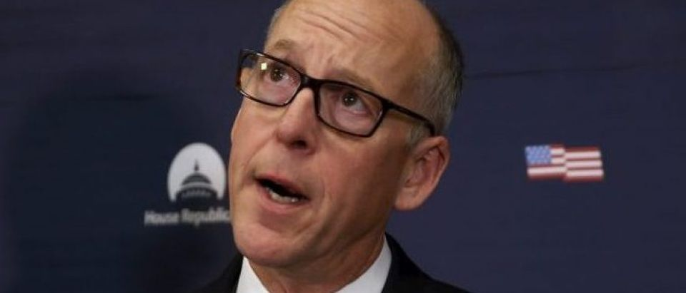 Walden addresses a question about the stand-off with armed, self-styled militiamen in eastern Oregon, during a weekly news conference by Ryan at the U.S. Capitol in Washington