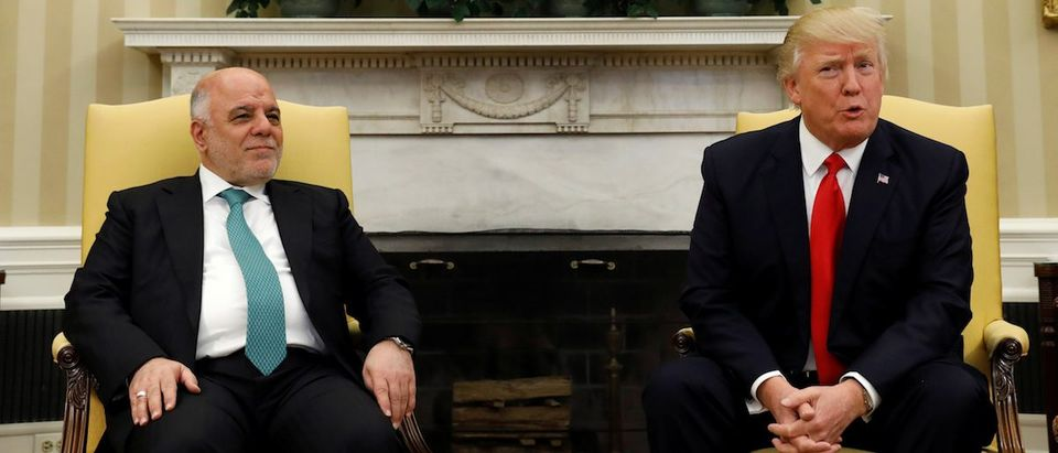 Trump meets Iraqi Prime Minister at the White House in Washington