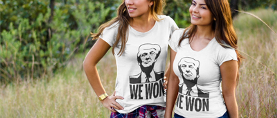 These girls are proud of their president (Photo via Placeit)