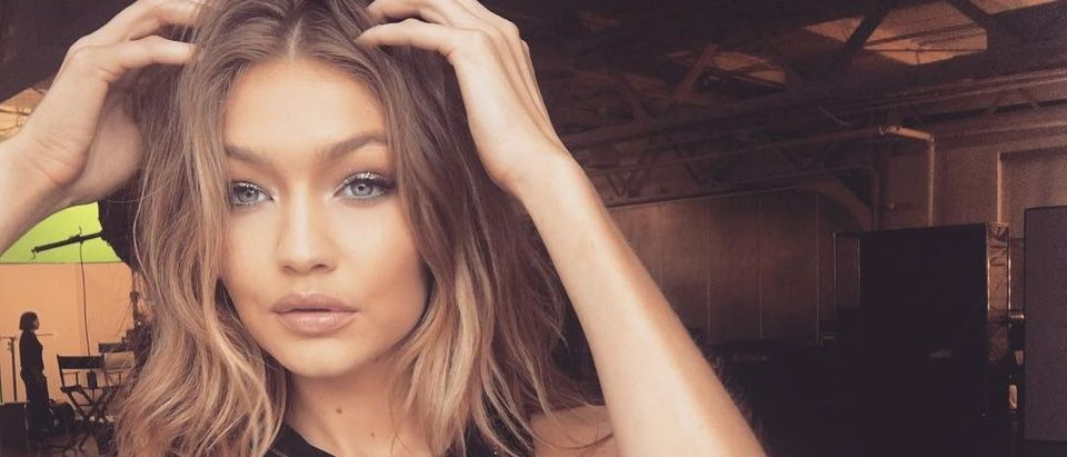 Gigi Hadid looked so glamorous in this black dress.