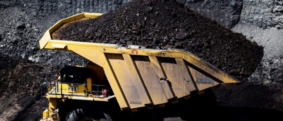 FILE PHOTO - Mining operations during a tour of Peabody Energy's North Antelope Rochelle coal mine near Gillette