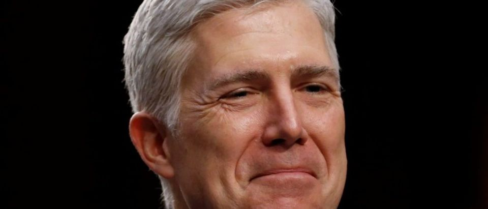 FILE PHOTO: Supreme Court nominee judge Gorsuch during Senate Judiciary Committee confirmation hearing in Washington