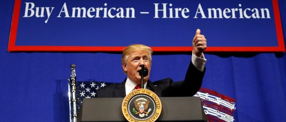 Trump visits Snap-On Inc in Kenosha