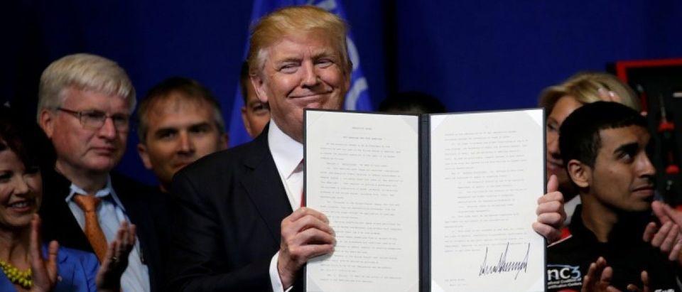 Trump visits Snap-On Inc in Kenosha, Wisconsin